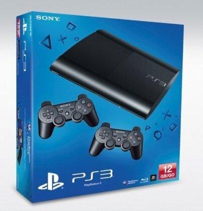 PlayStation 3 12 GB, black + Dualshock 2 Wireless Controller