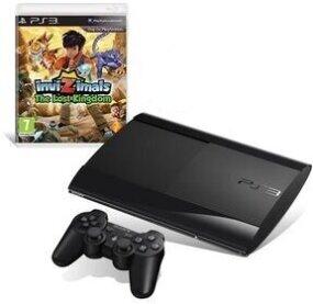 PlayStation 3 12 GB, black + Invizimals: Das verlorene Königreich