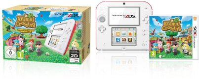 2DS Konsole weißrot + Animal Crossing limitiert