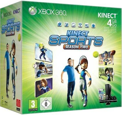 XB360 Konsole 4 GB + Kinect + Sports 2