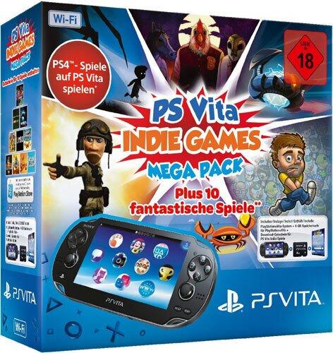 PSVita Konsole WiFi MEGA PACK 4 Indie inkl 4 GB Memory Card + DLC für Indie Games Pack