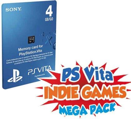 PSVZ Memory Stick 4GB Orig. MEGA 4 + Gutschein zum Download INDIE Games