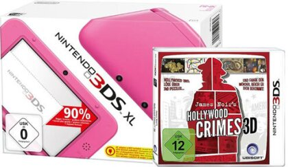3DS Konsole XL pink + Hollywood Crime (ohne Netzteil)