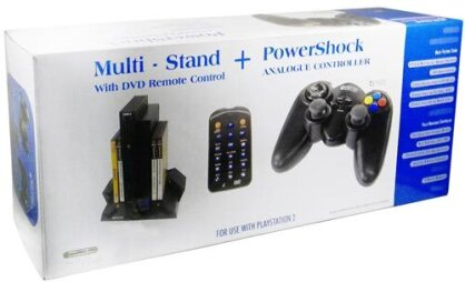 PS2 Controller Maxi Pack (Altes Modell) Multitap+Fernbedienung+Controller+Standf