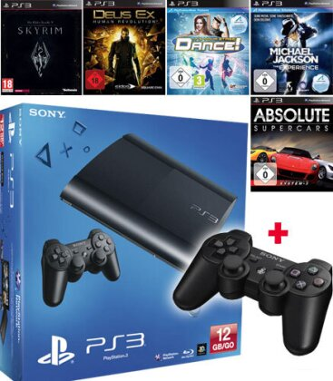 Sony PS3 12 GB + 5 Games + 1 Controller