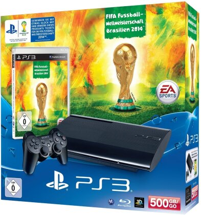 Sony PS3 500GB + FIFA WM Brasilien 2014