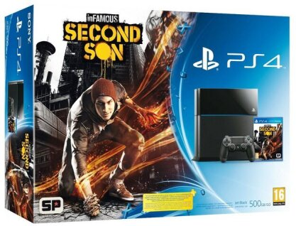 Sony PlayStation 4 Konsole 500 GB + InFamous: Second Son