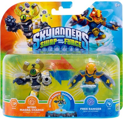 Skylanders Swap Force Double Pack 1 Nitro Magna Charge, Free Ranger (3x im Master Karton)