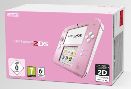 2DS Konsole Pink + White