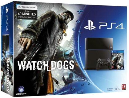 Sony PS4 Konsole 500GB + Watch Dogs