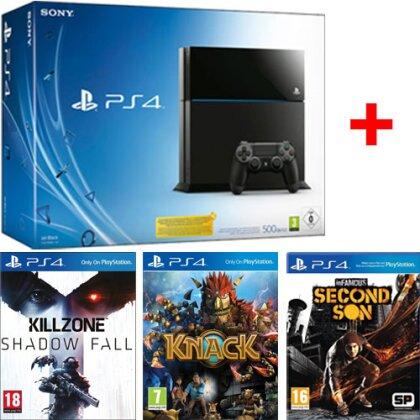 Sony PS4 Konsole 500GB Superbundle incl.+Killzone:S.F.+ Knack + Infamous 3
