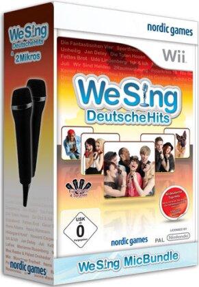 We Sing Deutsche Hits Wii + 2 Mic RELAU NEUAUFLAGE
