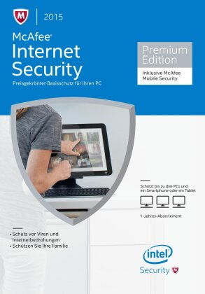 McAfee Internet Security 2015 - 3 User incl. Mobile Security (PC)