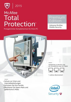 McAfee Total Protection 2015 - 3 User incl. Mobile Security (PC)