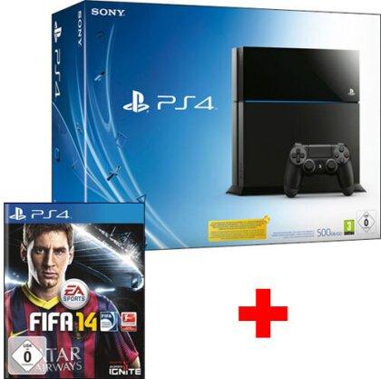 Sony Playstation 4 Konsole 500GB + Fifa 14