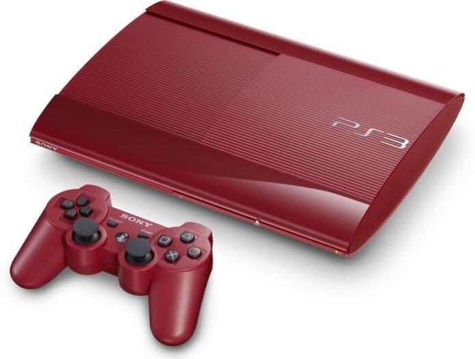 Sony Playstation 3 500GB Rot