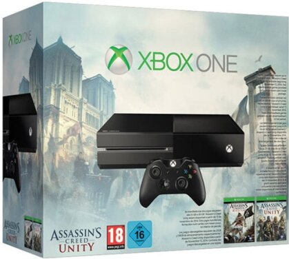 Xbox-One 500GB + Assassins Creed Unity (ohne KINECT)