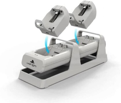 Dual Charging Stand & Battery Packs - white