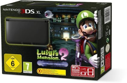 3DS Konsole XL black + Luigis Mansion 2 (Limited Edition Pack)