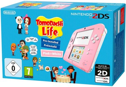 2DS Konsole Pinkweiß + Tomodatchi (Limited Edition Pack)