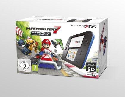 2DS Konsole Schwarzblau + Mario Kart 7 (Limited Edition Pack)