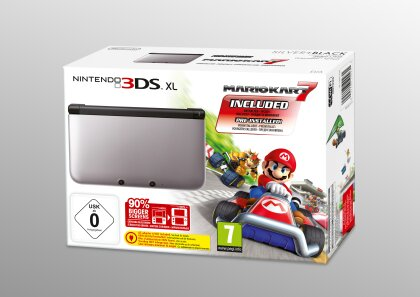 3DS Konsole XL silber + Mario Kart 7 (Limited Edition Pack)