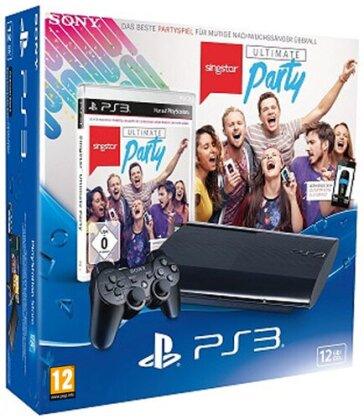 Sony PS3 12 GB + SingStar Ultiimate Party