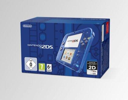 2DS Konsole Transparent blau