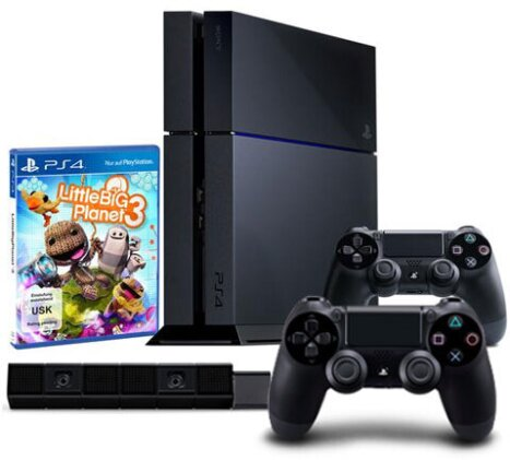 Sony Playstation 4 500GB Megapack incl.+ 2.Controller + Kamera Konsole Little Big Planet 3