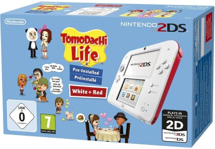 2DS Console incl. Tomodachi Life - white/red
