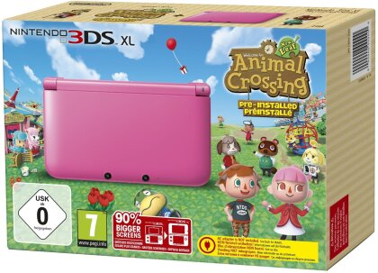 3DS XL Pink + Animal Crossing