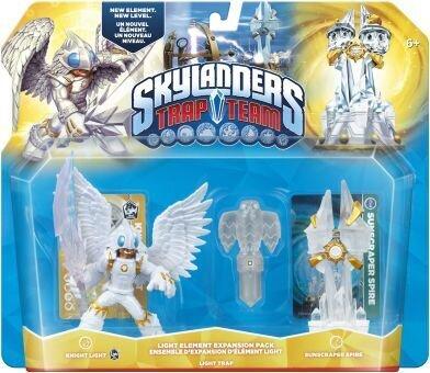 Skylanders Trap Team Elements LIGHT (Knight Light,Sunscraper, Hawk Light)
