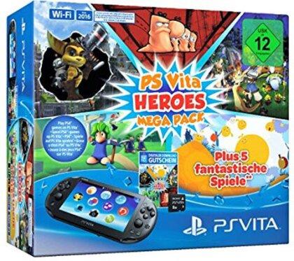 PSVita Konsole Mega Pack HEROES + 8GB Speicherkarte