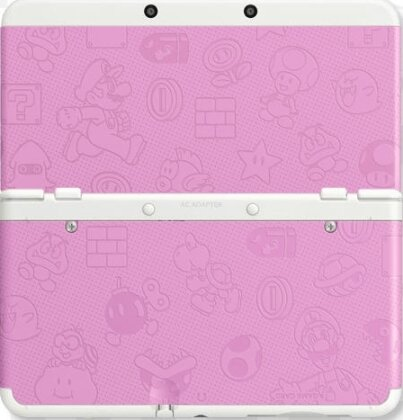 NEW 3DS COVER 011 MARIO WORLD ROSA