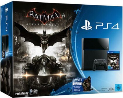 Sony PS4 500GB black Konsole + Batman Arkham Knight