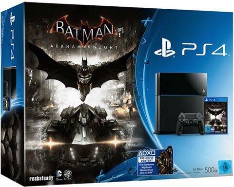 Sony PS4 500GB black Konsole + Batman Arkham Knight