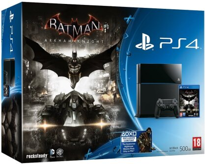Sony PS4 500GB Black & Batman Arkham Knights