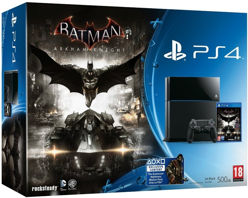 Sony PS4 500GB Black & Batman Arkham Knights