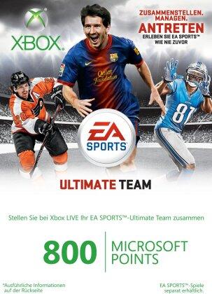 Xbox 360 Live Points -800 Points - EA Sports Ultimate Team