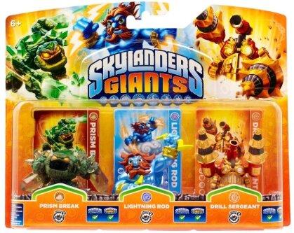 Skylanders Giants Triple pack E Prism Break, Lightening Rod, Drill Sergeant W 3.0