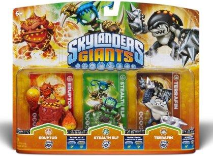 Skylanders Giants Triple pack F Eruptor, Stealth Elf, Terrafin W 3.0