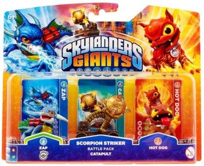 Skylanders Giants Battle Pack Zap, Capapult, Hot Dog W 3.0