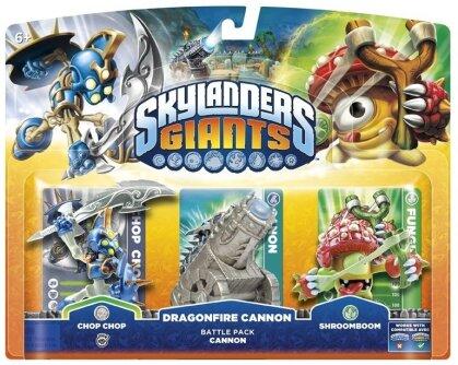 Skylanders Giants Battle Pack Chop Chop, Shroomboom, Cannon Piece W 3.0