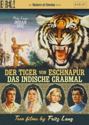 Der Tiger von Eschnapur / Das indische Grabmal (1959) (Masters of Cinema, Eureka!, 2 DVDs)