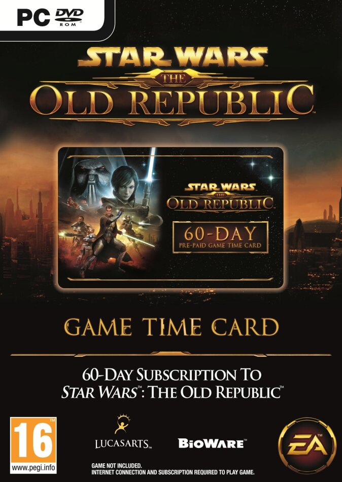 Star Wars: The Old Republic Time Card