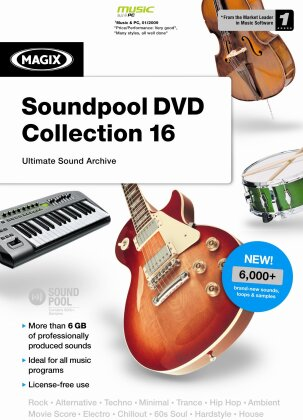 MAGIX Soundpool DVD Collection 16 Int. Version Minibox