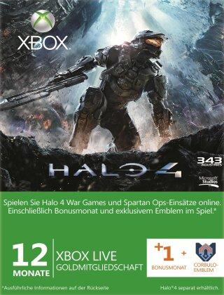 Xbox 360 Live 12+1 Mo Halo4 Emblem Card