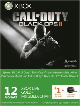 Xbox 360 Live 12+1 Mo COD:BOP2 Card incl. Avatar