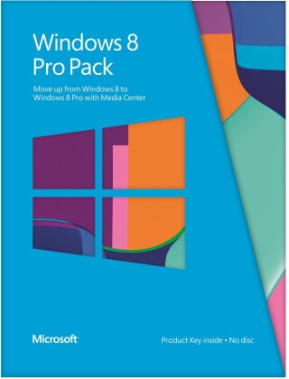 Microsoft Windows 8 Pro Upgrade Pack 32/64 Bit Medialess Win8 to Win8Pro PKC