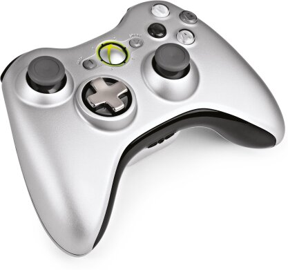 XBOX 360 Wireless Controller Silver inkl. Play & Charge Kit